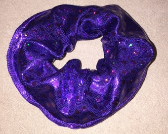 Scrunchie - Mystique Purple with Purple Holographic Sequins