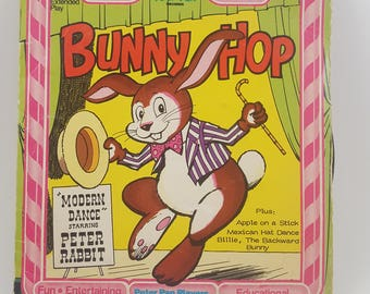 Bunny Hop Childrens Vintage Vinyl & Book by Peter Pan Records-Reduced Price!