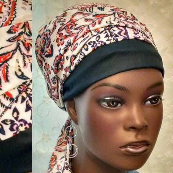 Feminine and sporty sinar tichel, head scarf, head wrap, Jewish hair covering, head covering, chemo scarf, alopecia, snood, apron tichel