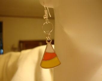 candycorn earrings, halloween earrings, fall earrings, halloween decor, halloween items, halloween gift, cute halloween gift, halloween(259)