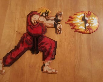 Ken Hadouken Street Fighter Pixel Bead Art