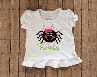 Girly Dotted Spider Appliqué Shirt