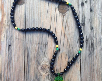 JAMAICAN BEADS WEAVED necklace RLW407