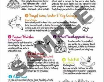 Indian Wedding Program Template