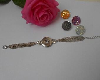 Chain bracelet for snap - adjustable