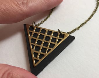 Black grid triangle