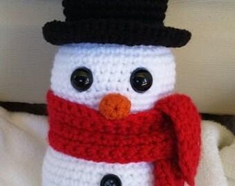 Snowman crochet pattern - amigurumi snowman pattern - beginner crochet pattern - holiday crochet pattern - cute snowman crochet