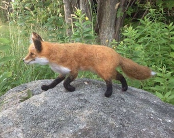 Needle Felted Animal. Felted Fox. Red Fox. Made to Order