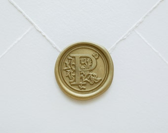 P Letter Wax Seal | Initial Wax Seal Stamp