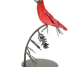Cardinal Bird Sculpture Bird Tabletop Art
