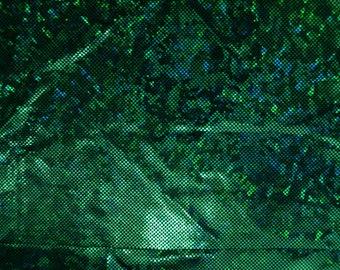 Grün zerbrochen Glas holographische Spandex Stoff Smaragd Medusa Poison Ivy Kiefer Kleeblatt St. Patricks Wald Neid prickelnde (durch den Hof)