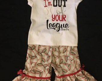 I am out of your league shirt with ruffle pants