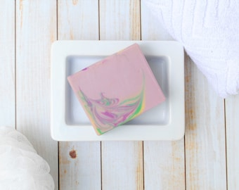 Lavender Chamomile Homemade Soap - Lavender Chamomile Goat Milk Soap - Dream Time Artisan Soap - Homemade Lavender Chamomile Soap for Her