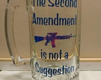 The Second Amendment Beer Mug
