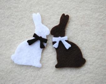 30 Piece Die Cut Felt Chocolate Bunnies