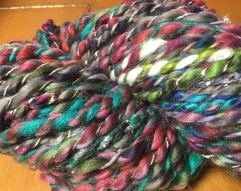 Small Batch Spun yarn with actual stainless steel and acrylic