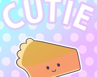 Cutie Pie Pastel Anime Poster High Quality Art Print