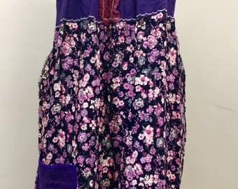 Boho Dress Upcycled Clothing, Recycled Dress, Gypsy Clothing, Upcyled Recycled Repurposed Clothing, Upcycled Summer Funky Top Tunic Dresses