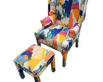 Mid-Century Wing Back Chair by Century