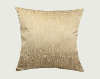 """Decorative Pillow case, Gold Sand color fabric with patterns Throw pillow case, fits 18"""" x 18"""" insert, Cushion case, Home Decor"""