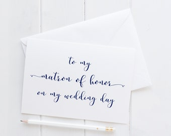 Wedding Card For Matron Of Honor. Matron Of Honor Wedding Card. Matron Of Honor Card. To My Matron Of Honor Card. Bridal Party Cards.