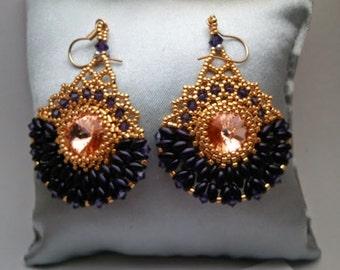 Tutorial- Royal Purple Cleopatra Earrings Tutorial