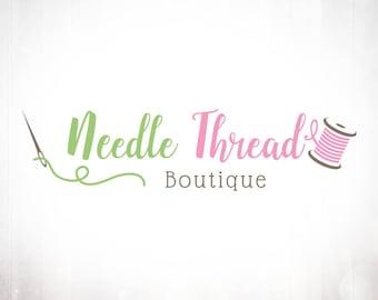 Premade Logo Design • Needle and Thread