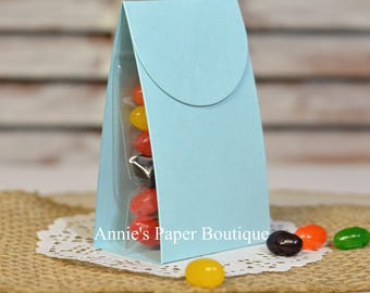 Treat Packets, Kits - Sky Blue - Favors, Birthdays, Baby Shower, Easter, Spring, Mother's Day, School, Fill w/ Candy Chocolate, Gum, Goodies