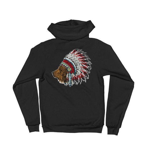 RookSkull Indian Bear Hoodie sweater