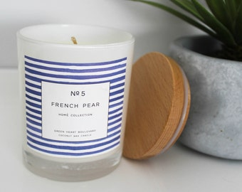 Coconut Wax Candle - No5 French Pear