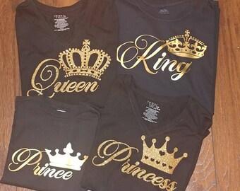 King Queen Prince Princess Royal Family Shirts Shirts Vacation Shirts mothers day gift