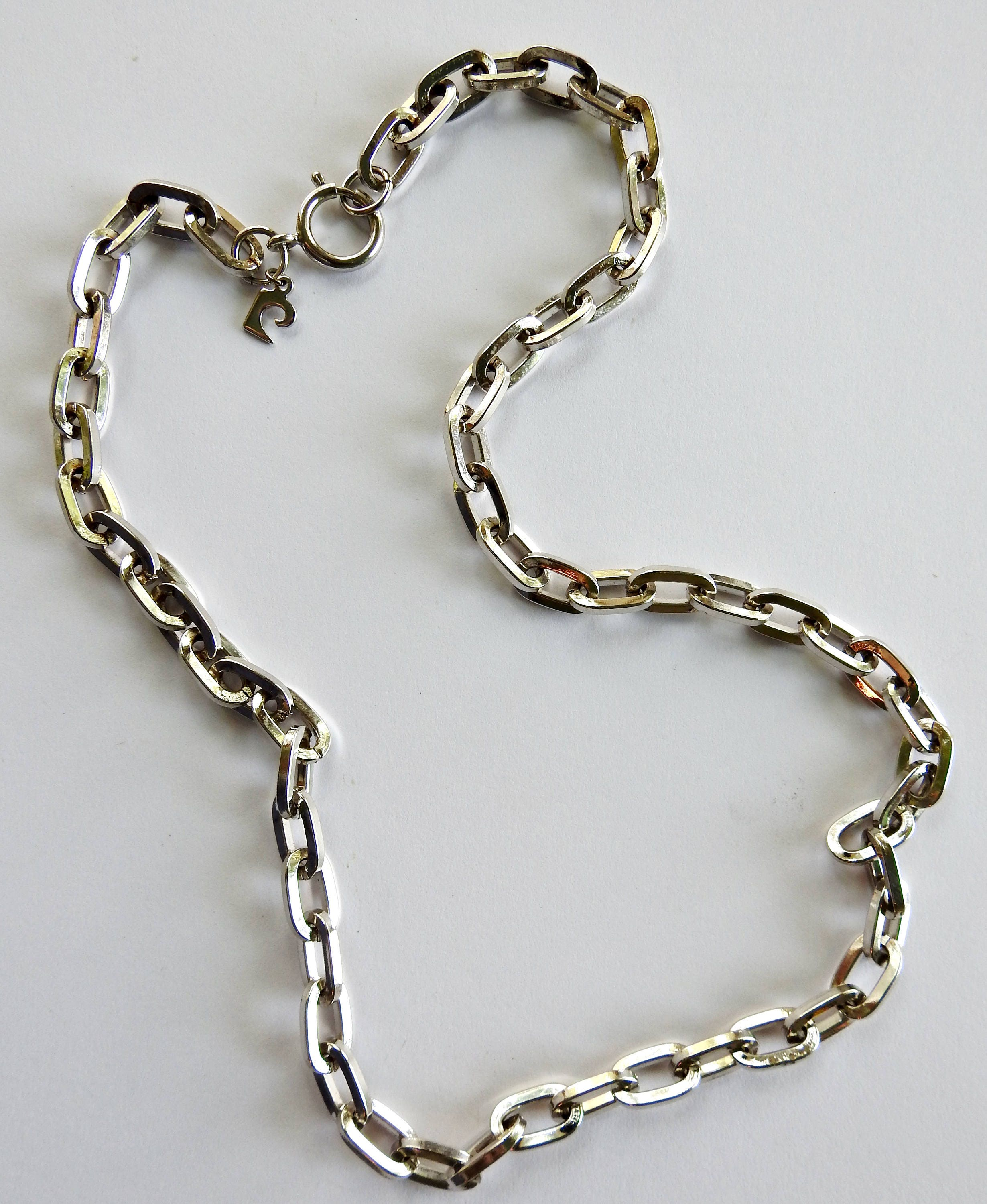 hollow chain shop designs large necklace oval a n dsc