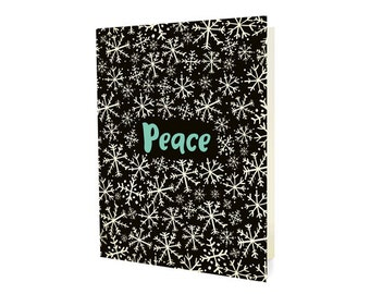 Snowy Peace Folded Holiday Cards, Box of 10 - Christmas Cards - OC1168-BX