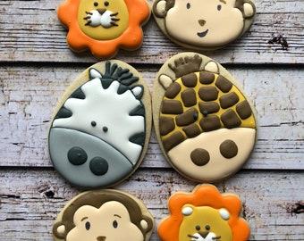 Safari Zoo animal cookies