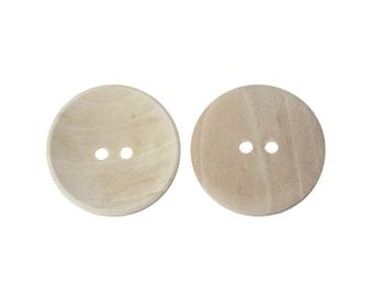 Bouton de bois brut de 20, 30, 35 ou 40mm - ensemble de 2 boutons en bois naturel