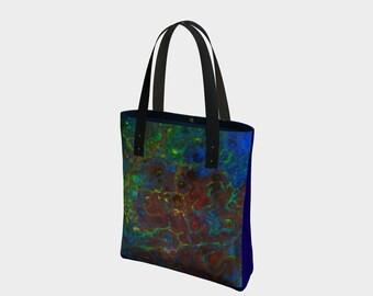 Blue Bag, Handbag, Original Bag, Art Bag, Designer Bag, Bag Print, Printed  Bag, Blue Bag, Fashion Accessory