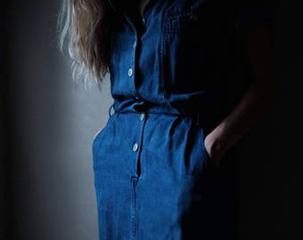 Indigo Tencel Dress | Made in the USA