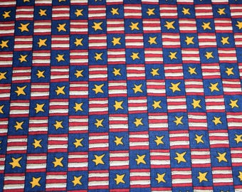 Red White and Blue Fabric, Flag Fabric, Americana Fabric, Patriotic Fabric, Quilting Fabric, Fabric, Cotton Fabric, Fabric By The Yard