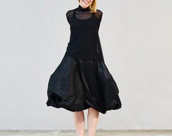 ROCCOU - balloon skirt - black