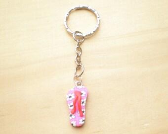 Keychain, Flip Flop Keychain, Beach Keychain, Summer Keychain, Key Accessories