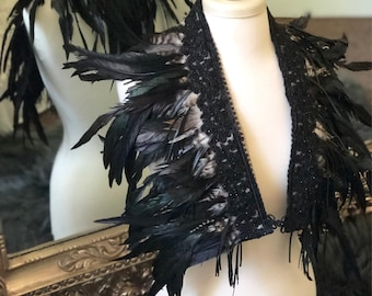 SALE Feather wings, feather shawl, festival wings, festival clothing, feather shoulderpiece, burning man outfit, burning man accessories