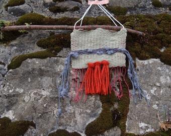 Weaving green - Orange