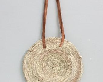 Hand Woven Bag Round Rattan Straw Bags Bohemia Style Beach Circle Bag beach 2018
