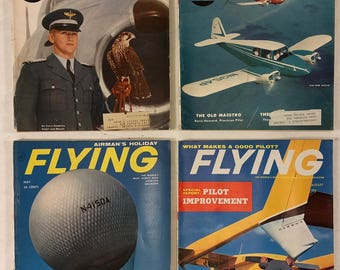 Flying Magazine 1956 1959 1962 Vintage Lot of 4 Aviation Pilot Enthusiasts AOPA