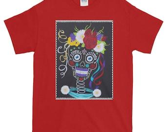 Natasha Sugar Skully Bride Original Art T shirt - Heavyweight cotton tee