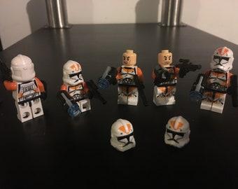 Lego Star Wars 212th Clone Troopers Orange Stormtrooper x 5 - combine ship