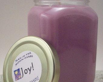 Joy Aromatherapy Candle - Grapefruit Rose Geranium Sage Orange Essential Oil Scented