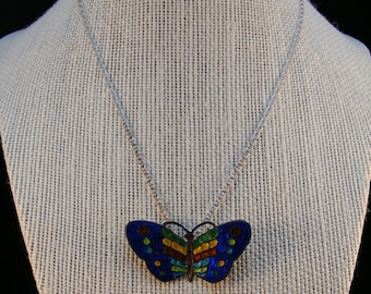 Cloisonne butterfly pin/pendant