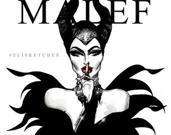 MALEFICENT - Villains Collection, Printable Art