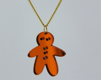 Gingerbread Earrings and/or Necklace